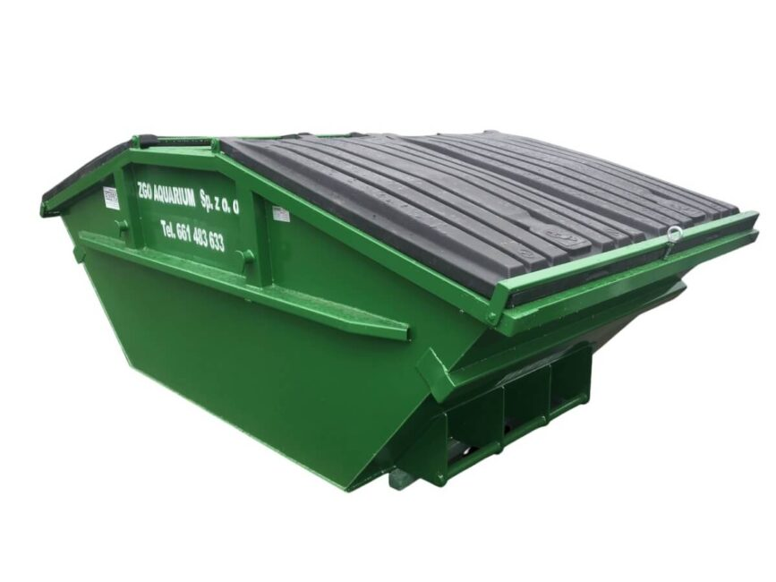 kontener mulda din30720 din307201-1 z klapami