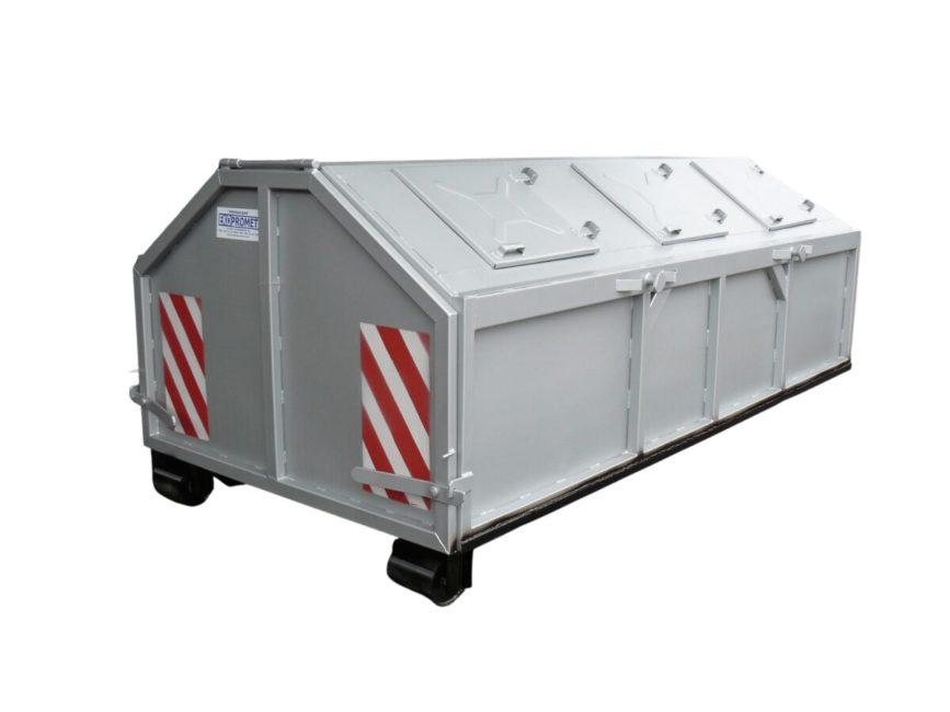 kontener kp-5,5 zakryty w wersji uniwersalnej hakowo-bramowej