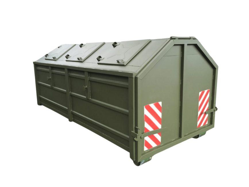 kontener kp-7 zakryty w wersji uniwersalnej hakowo-bramowej